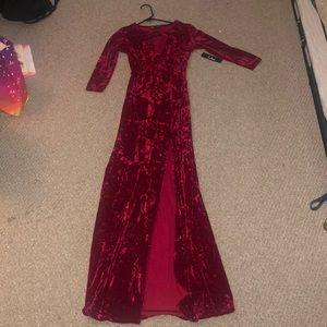 lulus XS longsleeve slit dress NEW w/ tags!